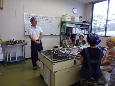 image: A world cooking class (German cooking) at the Nambu Community Center